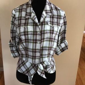 Button down waste blouse